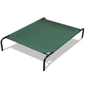 Dvignjena postelja za domače živali z jeklenim okvirjem 110 x 80 cm