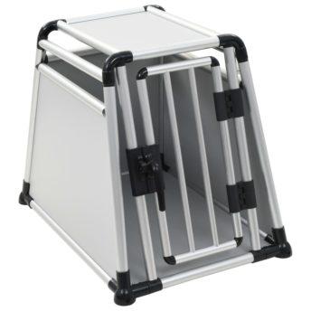 vidaXL Pasji transporter aluminij M