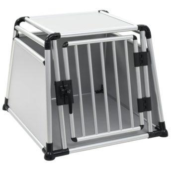 vidaXL Pasji transporter aluminij L